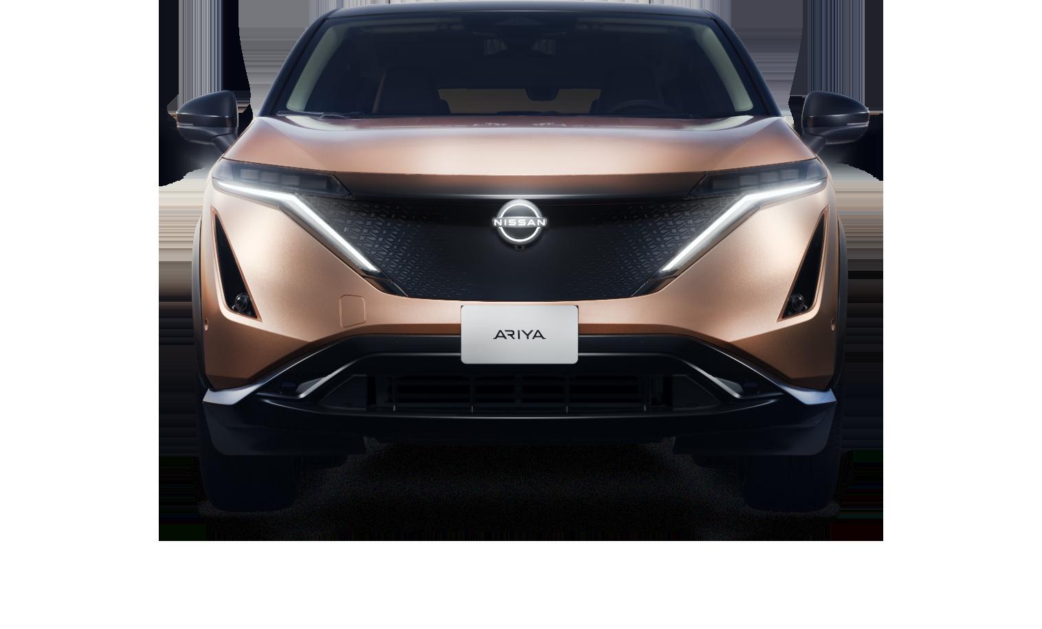Nissan ARIYA tegen witte achtergrond
